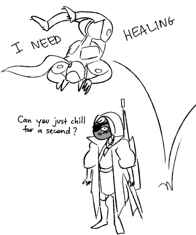Line art - HEALING I NEED Can you just chill for second ? a