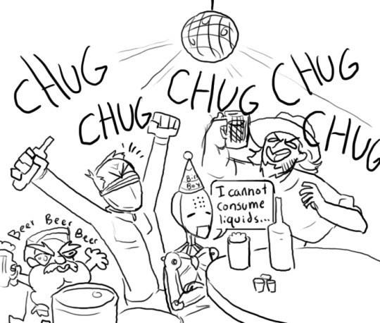 Line art - CHUC HG CHUG SHU CHUG 8-4 I cannot Consume Bees 1qoίδs.. Beas Beer
