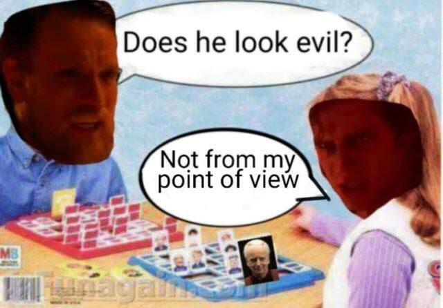 meme - Cartoon - Does he look evil? Not from my point of view MB gan.