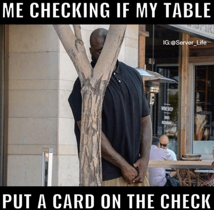 meme about trying to see if you got a tip