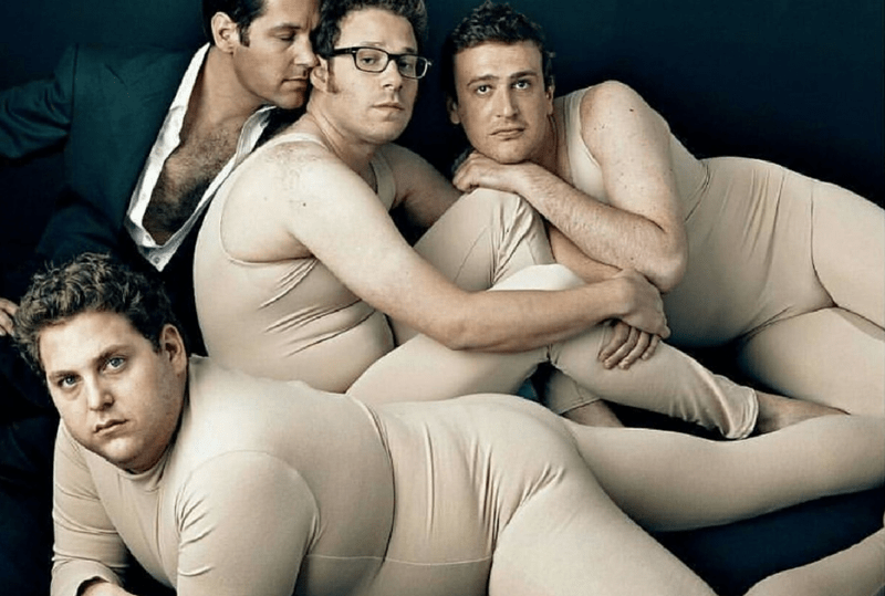 Thursday meme with pic of male comedians parodying and posing like female models