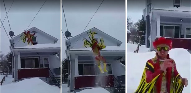 fail video macho man randy savage fan jumps off roof