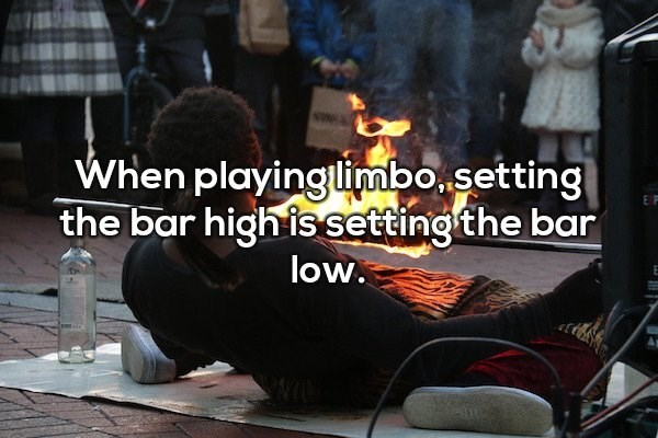 Font - When playinglimbosetting the bar high is setting the bar E P low.