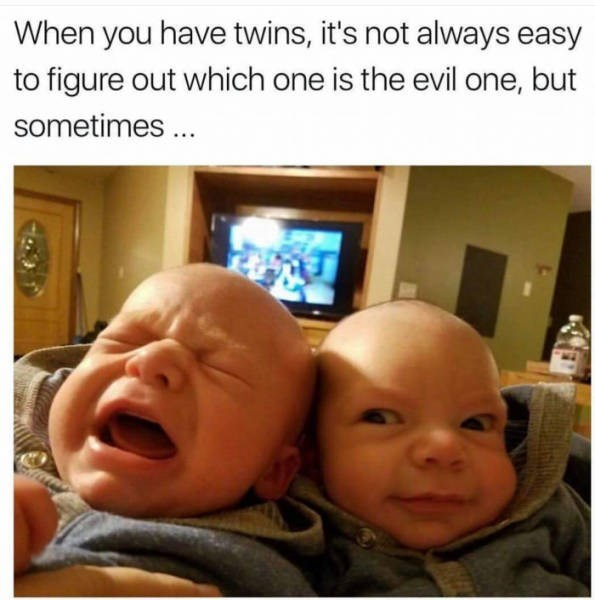 Sunday meme about evil twins
