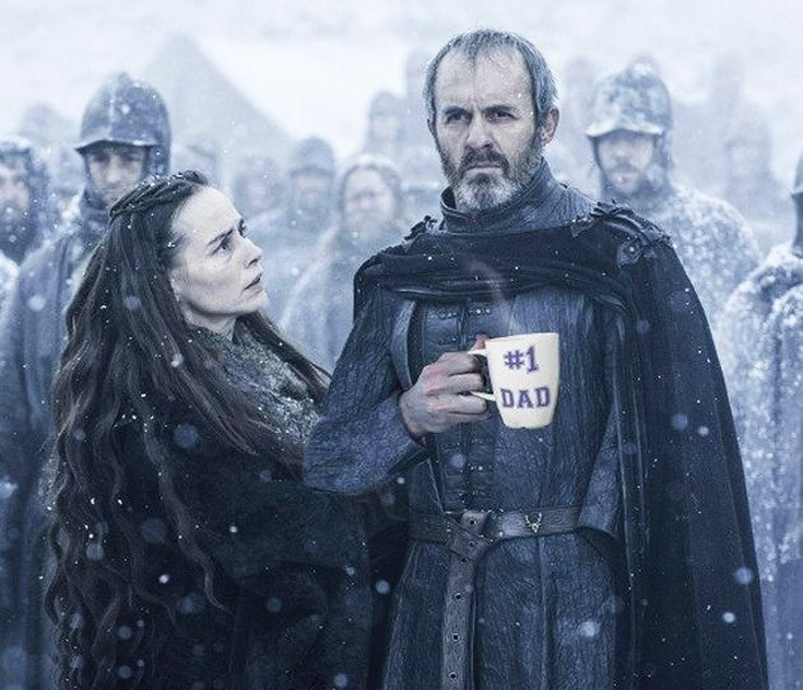 Sunday meme about Stannis Baratheon being a good father