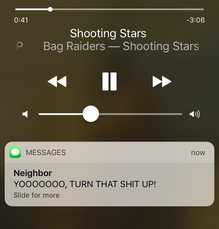 Sunday meme about playing shooting stars to your neighbor