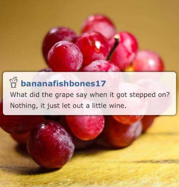 wine/grape corny joke