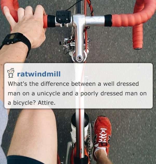 corny pun on the word attire