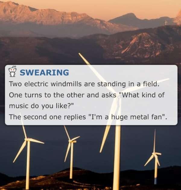 clean energy metal fan corny meme by reddit user SWEARING