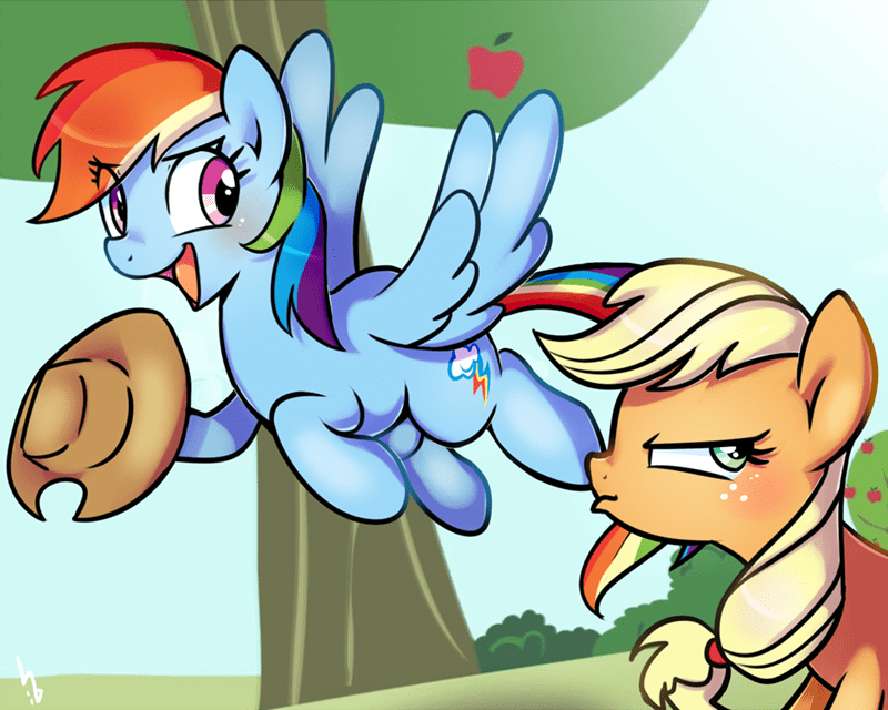 applejack haden-2375 rainbow dash - 9019833088