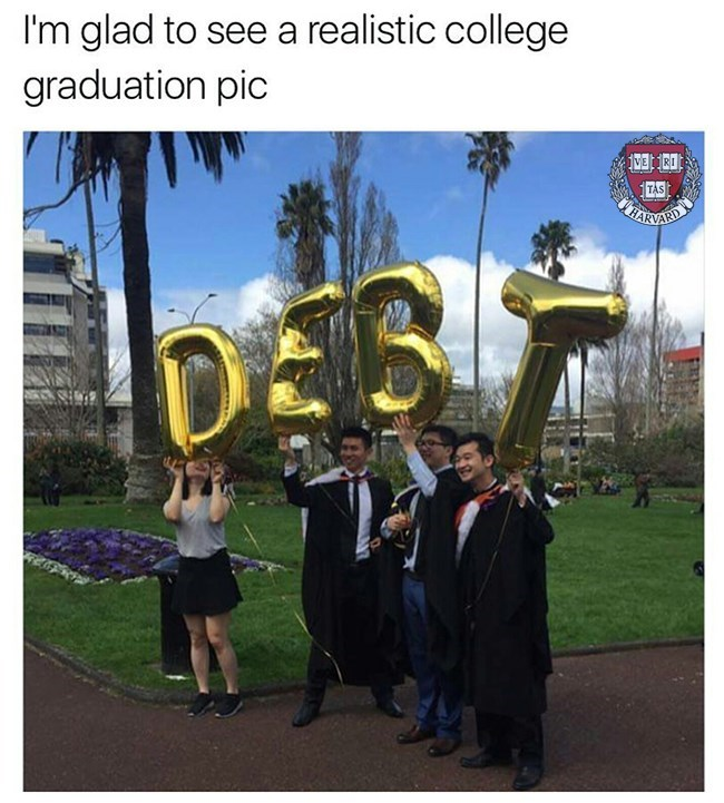 Brass instrument - I'm glad to see a realistic college graduation pic TAS iHARNARD