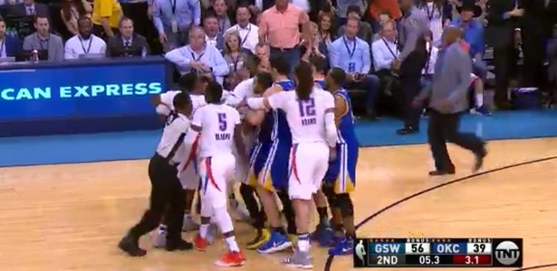 fail steph curry fight with okc thunder