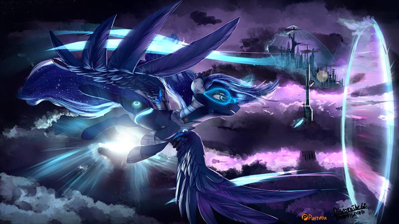 discordthege,cyberpunk,princess luna