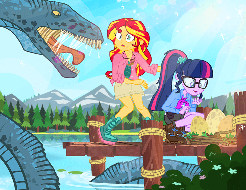 equestria girls,twilight sparkle,pixelkitties,sunset shimmer