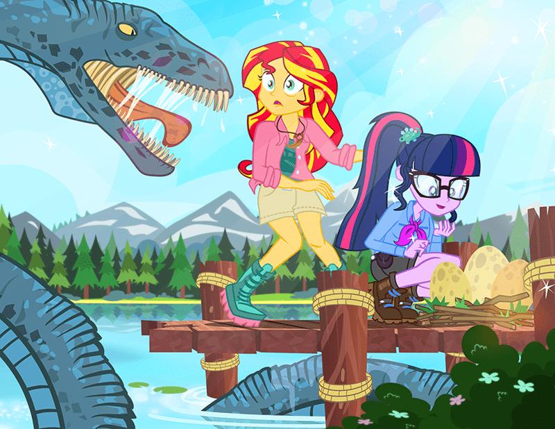 equestria girls twilight sparkle pixelkitties sunset shimmer - 9020725248