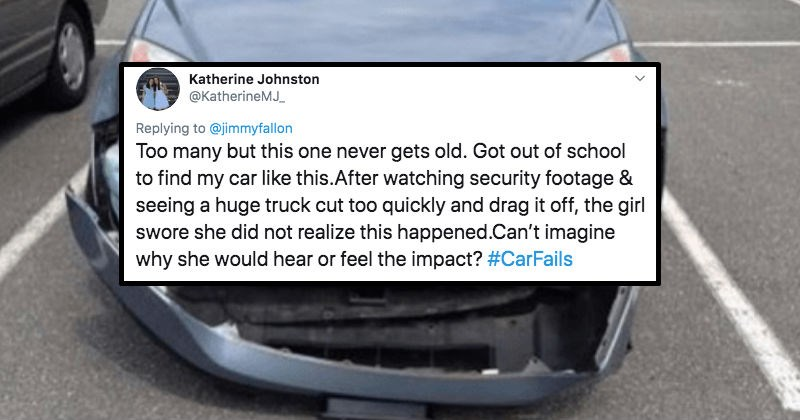 Twitter users share their biggest driving fails.