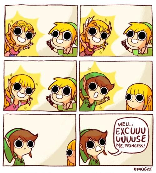 Cartoon - WELL EXCUUU UUUUSE ME, PRINCESS! OMOCAT