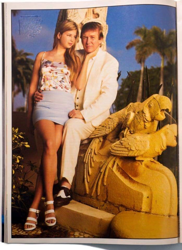 cringe post of Donald Trump with his daughter Ivanka when she was younger