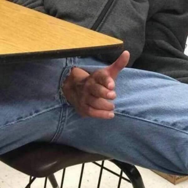 hand crotch