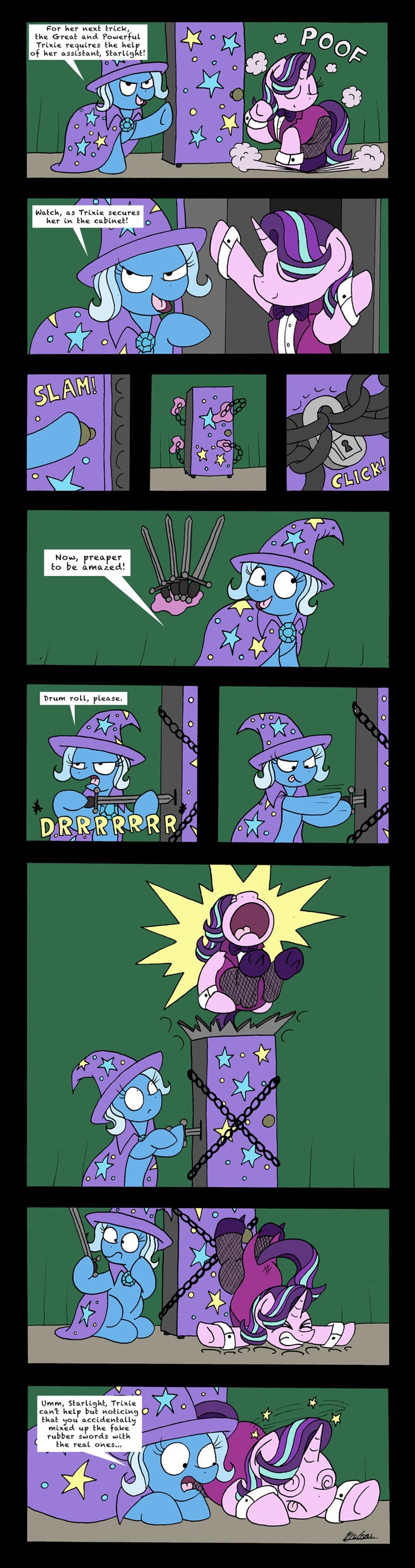 the great and powerful trixie,bob the dalek,starlight glimmer,comic