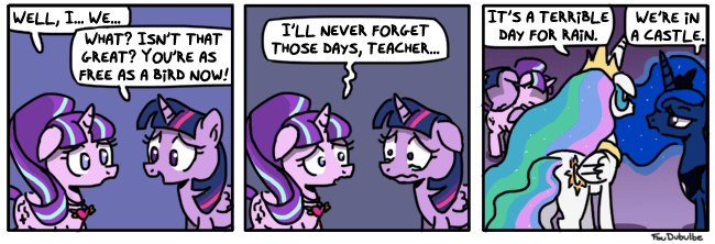 starlight glimmer twilight sparkle fullmetal alchemist princess luna manly tears comic princess celestia it's a terrible day for rain - 9021899776