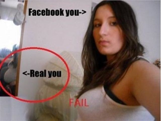 real you vs facebook you on facebook