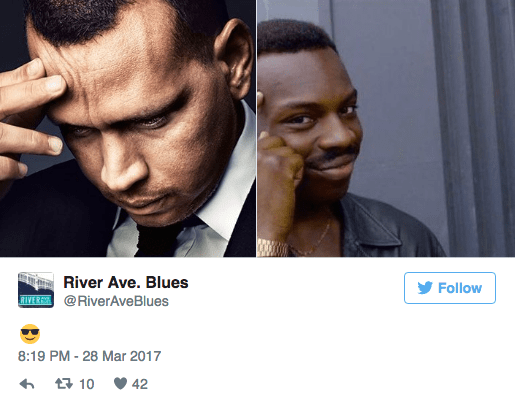 Face - River Ave. Blues Follow RIVERSH@RiverAve Blues 8:19 PM -28 Mar 2017 10 42