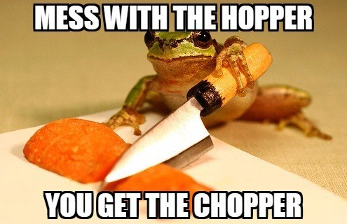 Junk food - MESS WITH THE HOPPER YOUGET THE CHOPPER