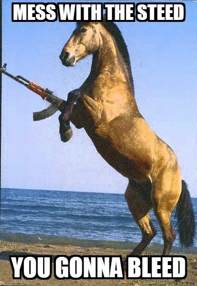 Horse - MESS WITH THE STEED YOU GONNA BLEED