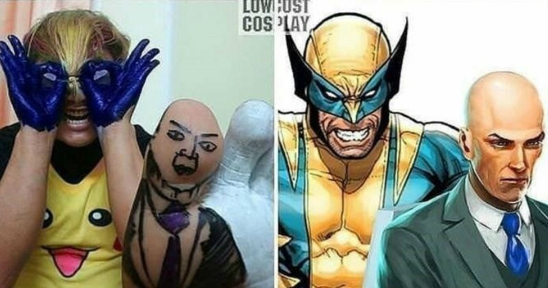 A guy creates clever low budget costumes.