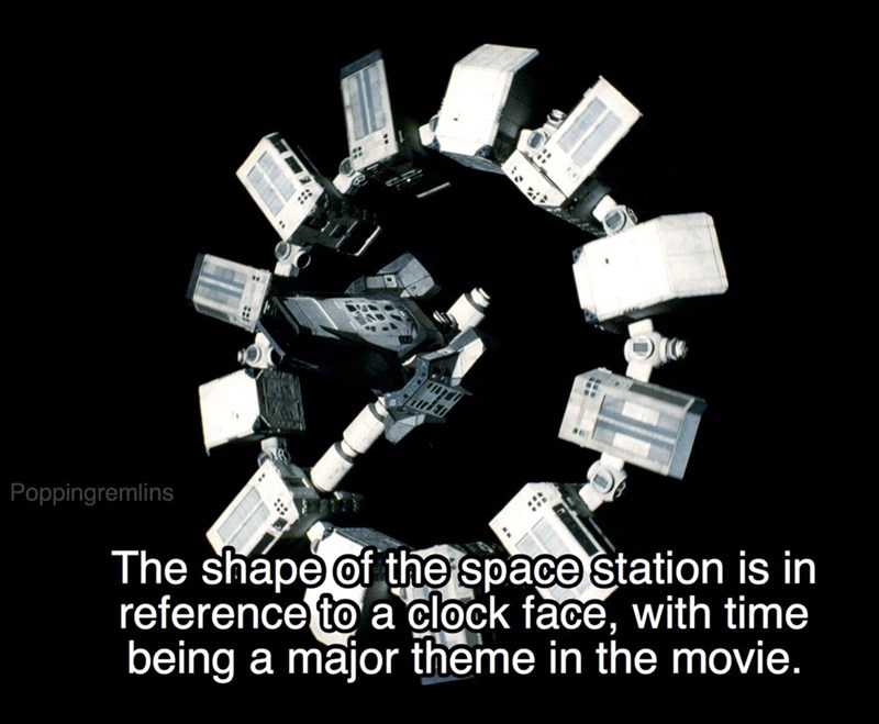 Product - Poppingremlins The shápe of the space station is in reference to a clock face, with time being a major theme in the movie.