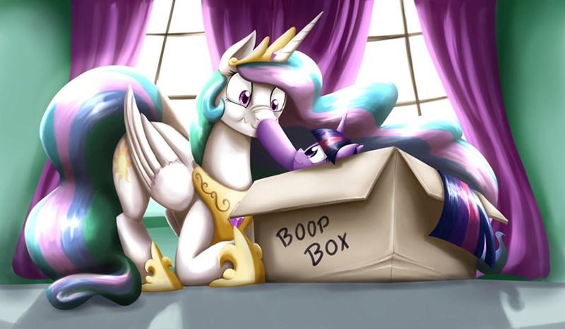 scrunch,otakuap,i love boops,adorable,i love the pony,love the pony,boop,twilight sparkle,cute,i feel confused,princess celestia