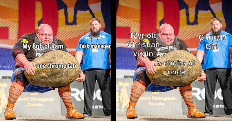 Funny 'Dimitar Savatinov lifting giant stone' memes