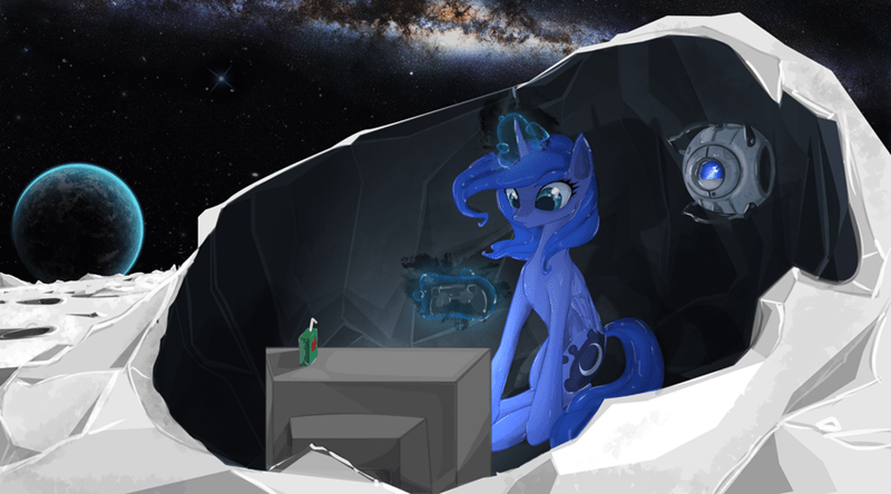 seyrii gamer luna princess luna juice box Portal space - 9023503616