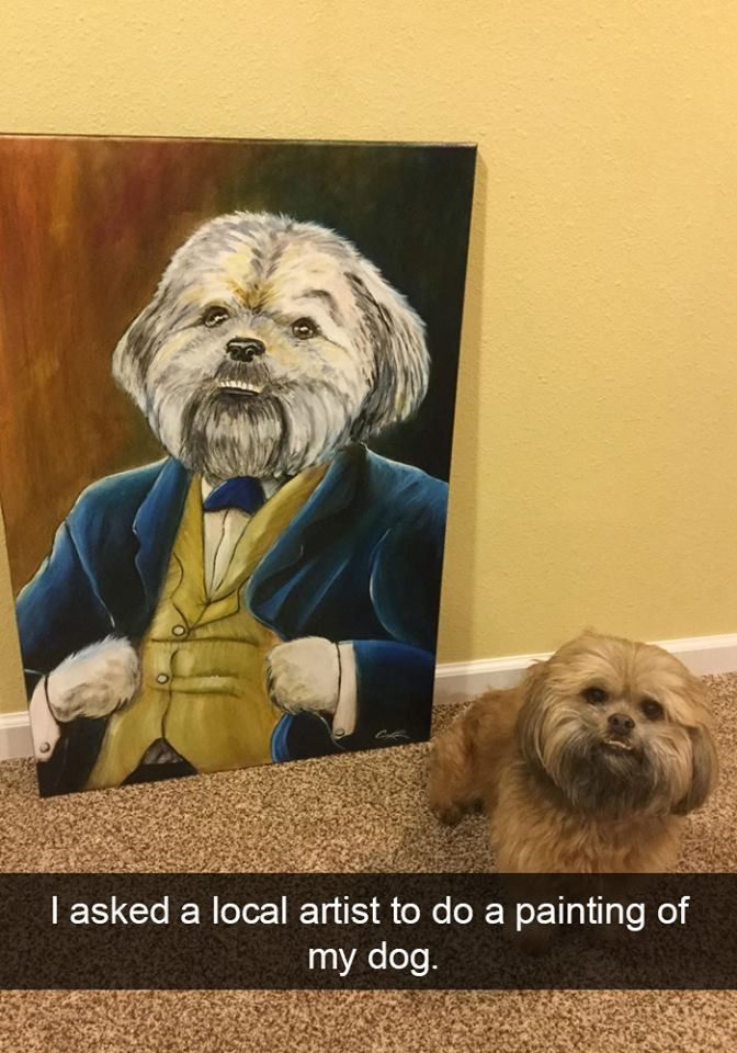 snapchat - Dog - I asked a local artist to do a painting of my dog.