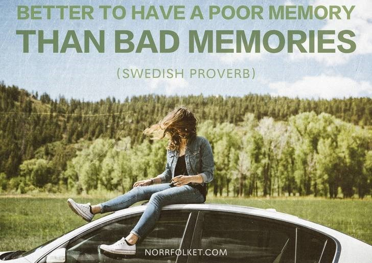Motor vehicle - BETTER TO HAVE A POOR MEMORY THAN BAD MEMORIES (SWEDISH PROVERB) NORRFOLKET.COM