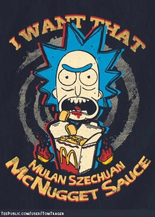 T-shirt - 1 WATHAT MULAN SZECHUAN MMCNUGGET SAUCE TEEPUBLIC.COM/USER / TOMTRAGER