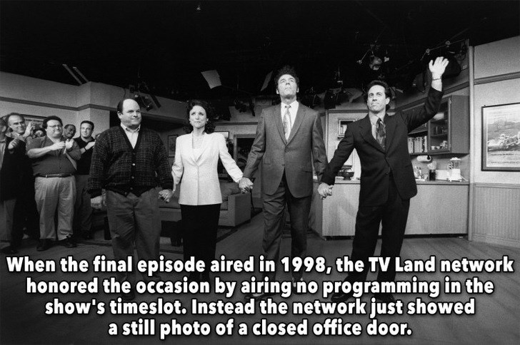 Gentleman - When the final episode aired in 1998, the TV Land network honored the occasion by airing no programming in the show's timeslot. Instead the network just showed a still photo of a closed office door.