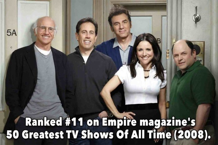 People - 5A B Ranked #11 on Empire magazine's 50 Greatest TV Shows Of All Time (2008).