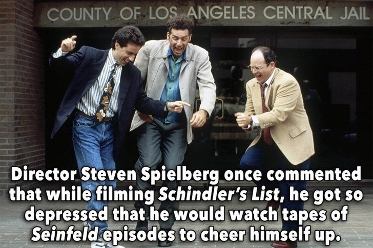 Photo caption - COUNTY OF LOS ANGELES CENTRAL JAIL Director Steven Spielberg once commented that while filming Schindler's List, he got so depressed that he would watch tapes of Seinfeld episodes to cheer himself up