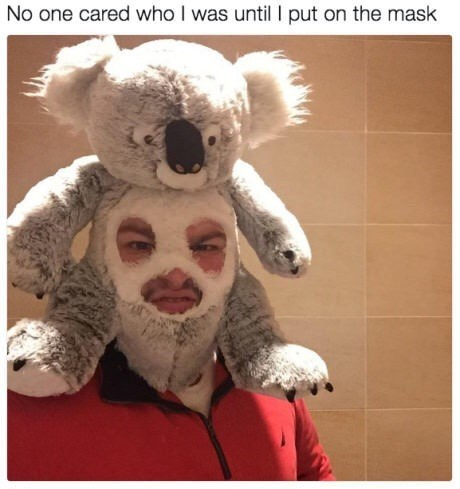 Koala - No one cared who I was until put on the mask