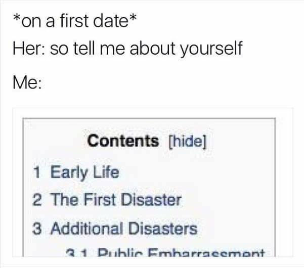 when your life is a disaster