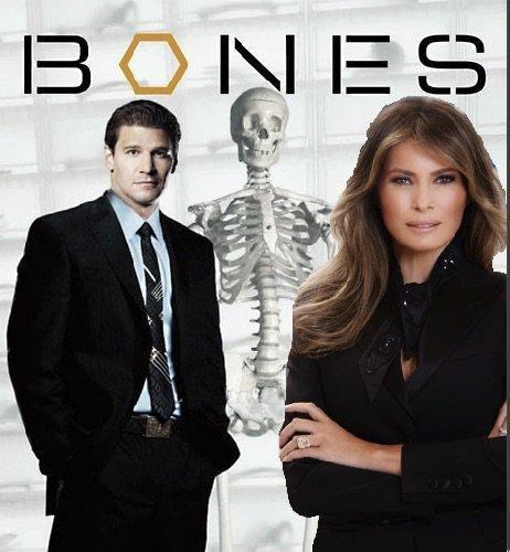 melania trump on bones