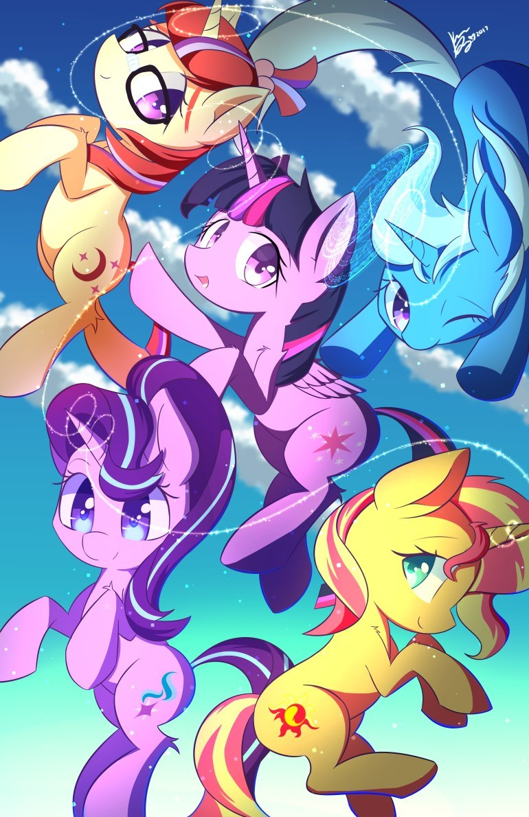 the great and powerful trixie moon dancer starlight glimmer twilight sparkle sunset shimmer kawaiipony2 - 9024297472