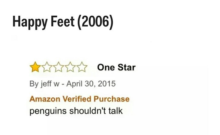 Text - Наррy Feet (2006) One Star By jeff w - April 30, 2015 Amazon Verified Purchase penguins shouldn't talk