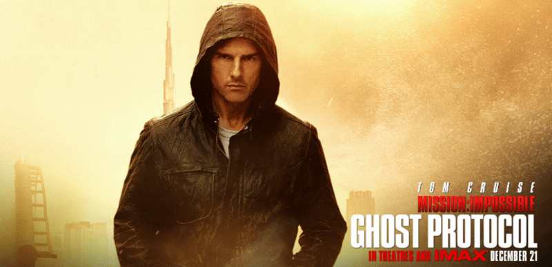 Movie - TOM CRUISE MISSION:MPOSSIRIE GHOST PROTOCOL IN THEATRES AND OTNAX DECEMBER 21