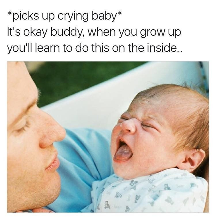 consoling baby meme crying