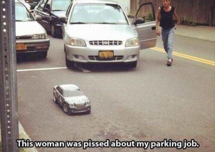 FAIL - Land vehicle - This woman was pissedabout my parkingjob.