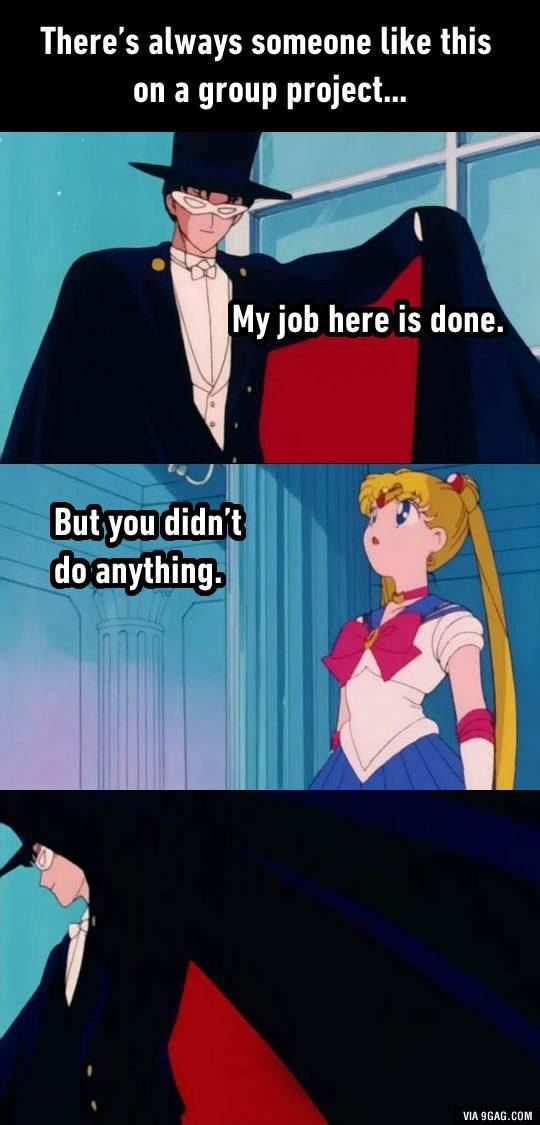tuxedo mask sailor moon group project work here is done