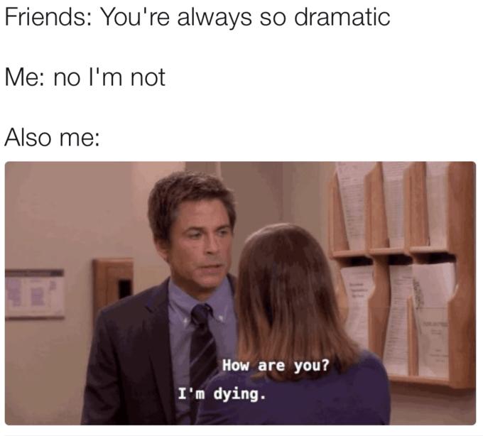 Me dramatic meme